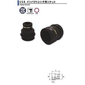 DIY工具用品 作業工具 作業工具その他 インパクトレンチ用 ソケット1(25.4)x80mm 旭金属 US0880