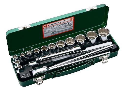 ソケットレンチセット 17点 12.7mm トネ 770M