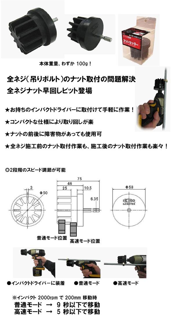 DIY工具用品 今だけ限定15%OFFクーポン発行中 先端パーツ 穴あけ 交換無料 ネジ締めパーツ ロブテックス NTLM ナットセッター