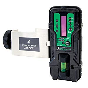 受光器 レーザーレシーバーII Plus グリーン用 ホルダー付 シンワ測定 No.71501