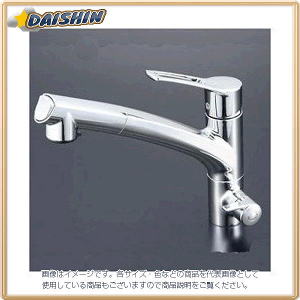 浄水器シングルシャワー付混合栓 KVK KM5061N