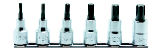 1/2(12.7mm)CVビットソケットレールセット 6ヶ組 コーケン RS4027/6-L60