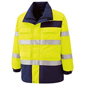 高視認性 防水帯電防止防寒コート イエロー L ミドリ安全 SE1124-UE-L