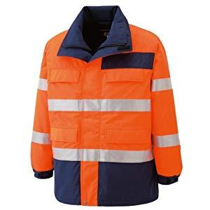 高視認性 防水帯電防止防寒コート オレンジ L ミドリ安全 SE1125-UE-L