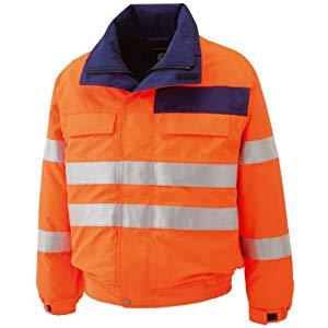 高視認性 防水帯電防止防寒ブルゾン オレンジ 4L ミドリ安全 SE1135-UE-4L