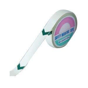 高輝度蓄光ラインテープ(矢印付) 25mm幅×10m 屋内用 PET 日本緑十字社 No.361006