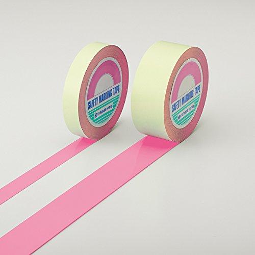 ガードテープ(ラインテープ) ピンク 25mm幅×100m 屋内用 日本緑十字社 No.148027