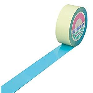 ガードテープ(ラインテープ) 水色 25mm幅×100m 屋内用 日本緑十字社 No.148028