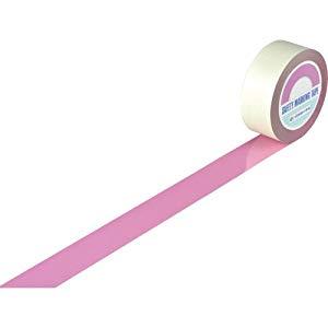 ガードテープ(ラインテープ) ピンク 50mm幅×100m 屋内用 日本緑十字社 No.148067