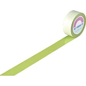 ガードテープ(ラインテープ) 若草色 50mm幅×100m 屋内用 日本緑十字社 No.148066