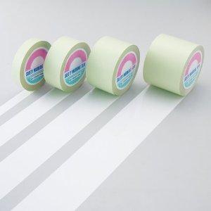 ガードテープ(ラインテープ) 白 100mm幅×100m 屋内用 日本緑十字社 #148131
