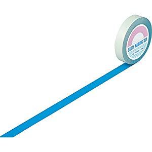 ガードテープ(ラインテープ) 青 25mm幅×100m 屋内用 日本緑十字社 #148016