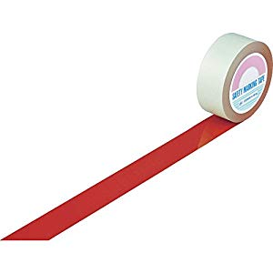 ガードテープ(ラインテープ) 赤 50mm幅×100m 屋内用 日本緑十字社 #148054