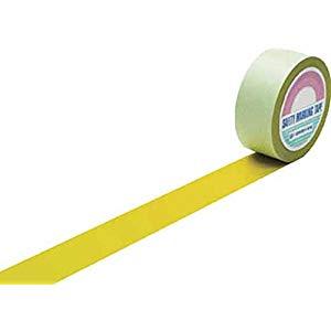 ラインテープ(ガードテープ) 黄 50mm幅×100m 屋内用 日本緑十字社 No.148053