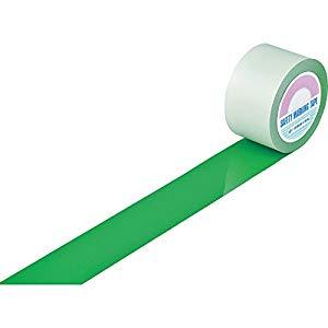 ガードテープ(ラインテープ) 緑 75mm幅×100m 屋内用 日本緑十字社 #148092