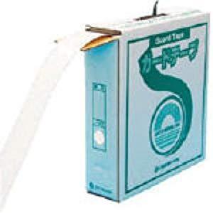 ラインテープ(ガードテープ) 白 再剥離タイプ 50幅×100m 屋内用 日本緑十字社 No.149031