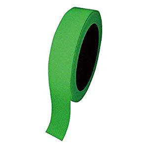 高輝度蓄光テープ 25mm幅×10m 屋内用 PET 日本緑十字社 No.072004
