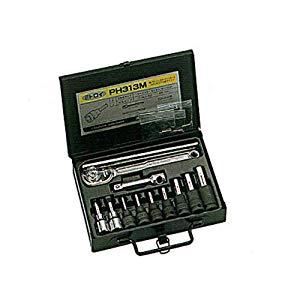 3/8 ヘックスソケットパワータイプ ケースセット 水戸工機 PH313M