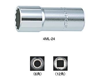 DIY工具用品 作業工具 作業工具その他 1 2 スペアソケット ディープ 12P 海外輸入 10MM 上品 水戸工機 4ML-10