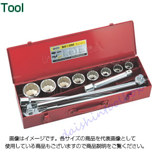3/4 ソケットレンチセット MM・ISOメタルケースS 水戸工機 S613M-ISO