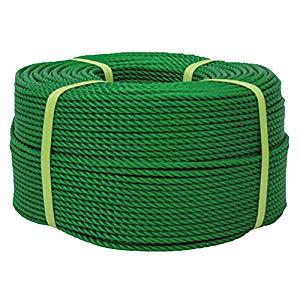 ロープ PEロープ巻物 12×200m グリーン ユタカメイク PE-63