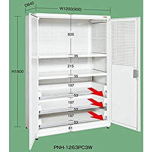 パンチング保管庫 サカエ PNH-1263PC3W