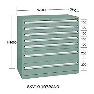 重量キャビネットSKV10タイプ サカエ SKV10-1072ANG