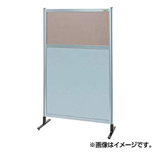 パーティション 透明カラー塩ビ(上) アルミ板(下)(単体) サカエ NAK-55NT