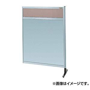 パーティション 透明カラー塩ビ(上) アルミ板(下)(連結) サカエ NAK-54NR