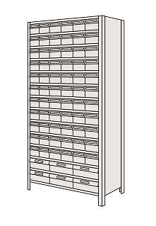 物品棚LEK型樹脂ボックス サカエ LEK2124-72T