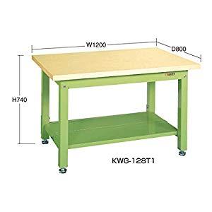 重量作業台KWタイプ中板2枚付 サカエ KWG-128T1