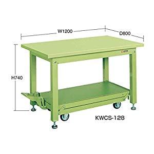 重量作業台KWCタイプ・ペダル昇降移動式 サカエ KWCS-128