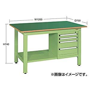 軽量作業台KKタイプ スモールキャビネット付 サカエ KK-59PSL5IG