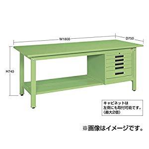 軽量作業台KKタイプ SVEキャビネット付 サカエ KK-69PSVE52IG