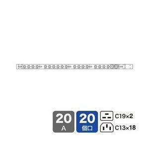 19インチサーバーラック用コンセント200V(20A) TAP-SV22020C19 サンワサプライ TAP-SV22020C19