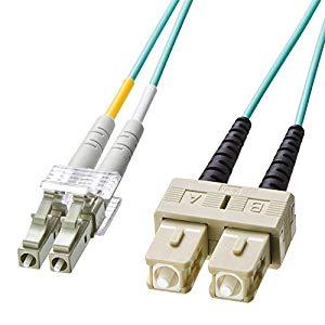 OM3光ファイバケーブル HKB-OM3LCSC-10L サンワサプライ HKB-OM3LCSC-10L