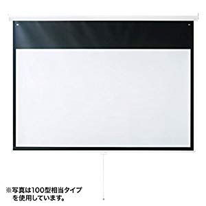 プロジェクタースクリーン(吊り下げ式) PRS-TS80HD サンワサプライ PRS-TS80HD
