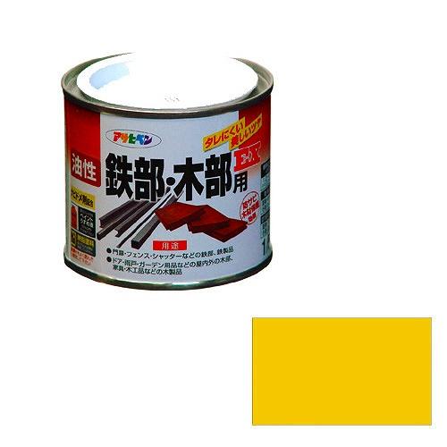 オーバーのアイテム取扱☆ DIY工具用品 塗料 接着剤 直営ストア 油性鉄部 アサヒペン 黄色 木部用EX