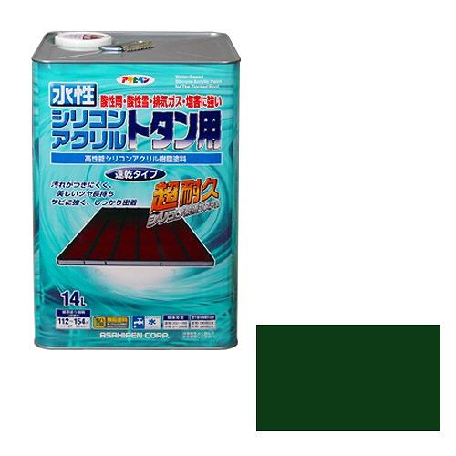 水性シリコンアクリルトタン用 緑 アサヒペン