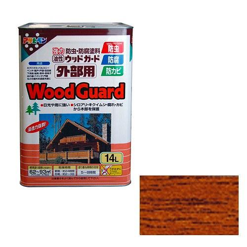 DIY工具用品 NEW 激安超特価 塗料 接着剤 ウッドガード チーク アサヒペン 外部用 03