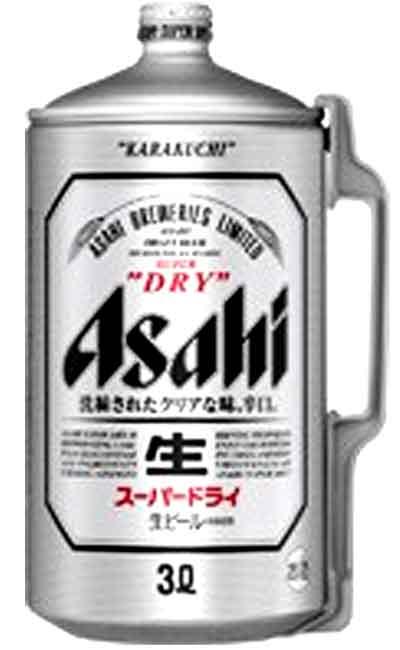 【3000ml】アサヒ スーパードライ樽 3000ml缶 6本入ケース販売となっております。他の商品との同梱はできません!