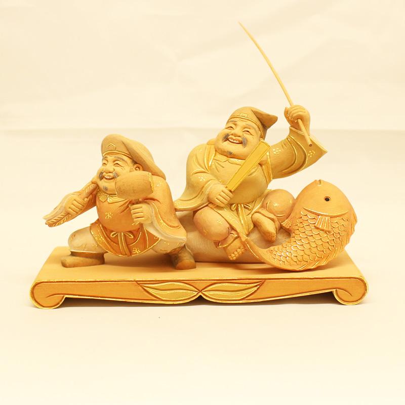 仏像 年々余裕 淡彩切金 送料無料 仏具 仏壇 インテリア