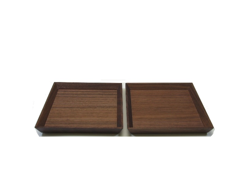 """""""Shiraki painted Walnut saucer and serving plate and coaster (inside) 2-align '"""