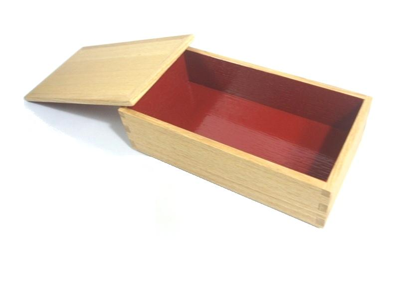 """Plain painted ash long corner further muntins Zhu in a Bento box (small) '"