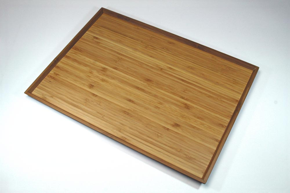 """""""An unvarnished wood coat bamboo laminated lumber long corner tray"""" (very much)"""
