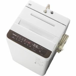 パナソニック 全自動洗濯機 6kg バスポンプ内蔵 ブラウン NAF60PB13-T