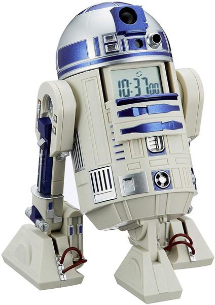 R2-D2 アクション アラーム目覚まし時計 お買い得 リズム時計 スター ウォーズ 休日 8ZDA21BZ03 目覚まし置時計 音声 アクション付き 在庫限り