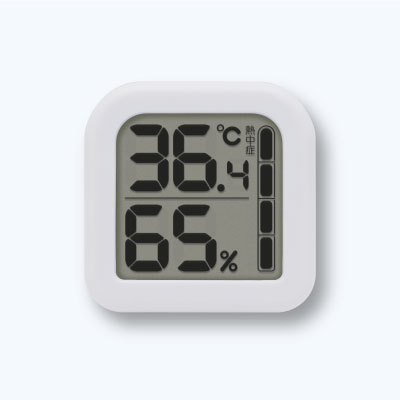 熱中症 インフルエンザの危険度目安を表示します 安心と信頼 メール便可 ドリテック デジタル温湿度計 売り出し 在庫限り インフルエンザの危険度の目安をバー表示でお知らせ O-405WT コンパクトサイズ