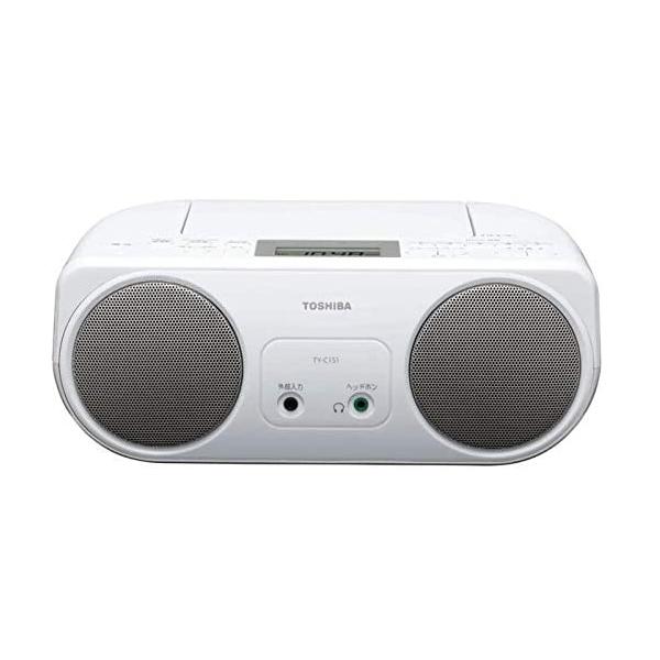 シンプルで使いやすいCDラジオ 東芝 CDラジオ 乾電池とAC電源の2電源対応 ワイドFM TOSHIBA TY-C151S 在庫限り 年末年始大決算 TYC151S 贈物