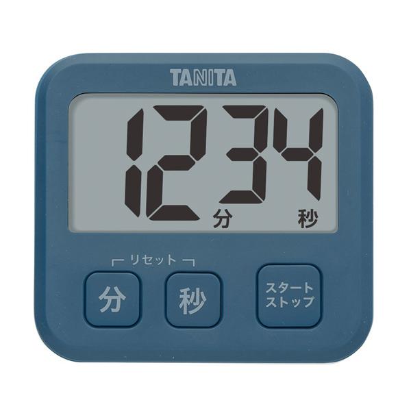 薄型なので限られたスペースでも使いやすいタイマーです メール便可 タニタ 厚さ9.5mmの薄型タイマー TD-408-BL 永遠の定番モデル 在庫限り マグネット付 ブルー 日本全国 送料無料